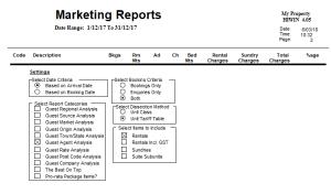 Marketing Capabilities - reporting